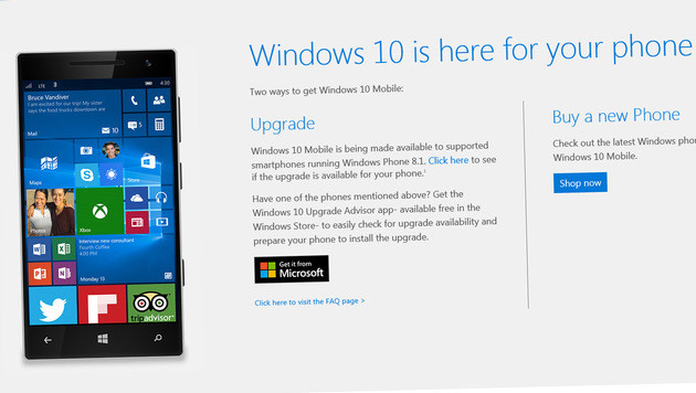 Windows 10 Mobile: Microsoft stellt Update bereit (Bild: Microsoft)