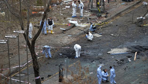 Am 14. März wurden 37 Menschen bei einem Terroranschlag einer PKK-Splittergruppe in Ankara getötet. (Bild: AP)