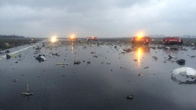 Passagiermaschine in Russland abgestürzt - 62 Tote (Bild: AP)