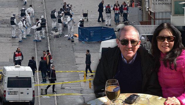 Unweit vom Anschlagsort entfernt, machte Heinz Schaden mit seiner Frau gerade eine Kaffeepause. (Bild: Krone, APA/AFP/Bulent KILIC)