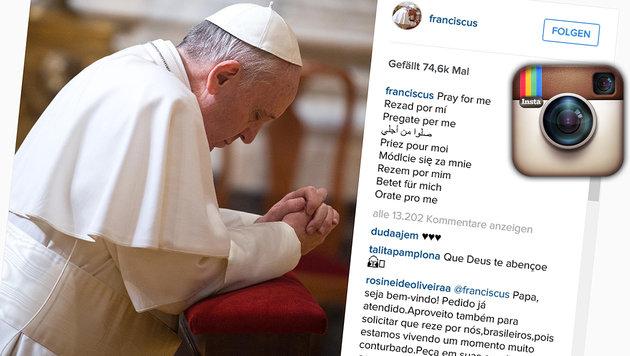 Papst Franziskus jetzt auch auf Instagram aktiv (Bild: instagram.com/franciscus)