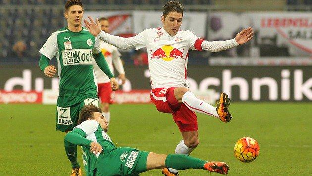 RB Salzburg fährt Pflichtsieg gegen SVM ein (Bild: APA/DANIEL KRUG)