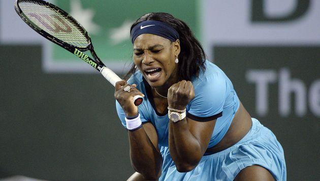 Serena Williams erste Finalistin in Indian Wells (Bild: APA/AFP/GETTY IMAGES/KEVORK DJANSEZIAN)
