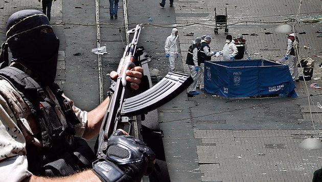 IS-Anhänger verübte blutigen Anschlag in Istanbul (Bild: ASSOCIATED PRESS, EPA/MOHAMMED SABER)