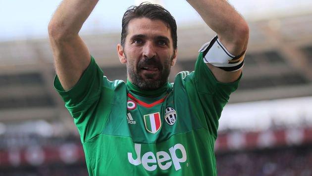 Juventus-Goalie Buffon stellt Torsperre-Rekord auf (Bild: AFP or licensors)