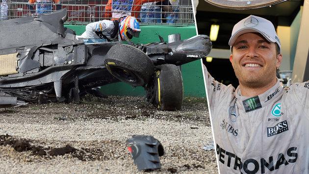 Rosberg gewinnt höchst turbulenten Auftakt-GP (Bild: ASSOCIATED PRESS)
