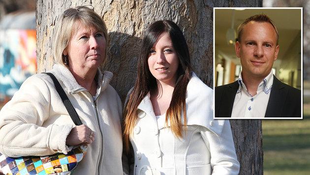 Evelyn Grünwald und Tochter Doris; Anwalt Gunther Ledolter vertritt die beiden. (Bild: Jürgen Radspieler)