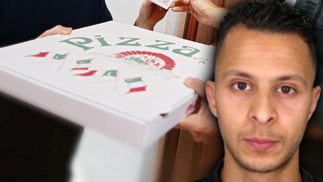Wie Salah Abdeslam eine Pizza zum Verhängnis wurde (Bild: APA/AFP/POLICE NATIONALE/DSK, thinkstockphotos.de)