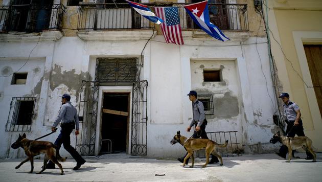 Höchste Sicherheitsvorkehrungen in Havanna (Bild: AP)