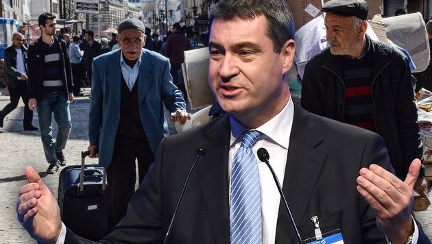 CSU-Minister befürchtet Masseneinreise von Kurden (Bild: APA/AFP/CHRISTOF STACHE, APA/AFP/ILYAS AKENGIN)