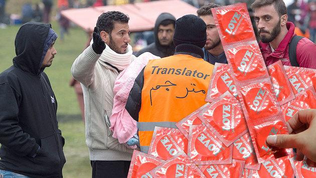Deutschland: 150.000 Kondome f�r Fl�chtlinge (Bild: APA/GEORG HOCHMUTH, APA/dpa-Zentralbild/Sebastian Kahnert)
