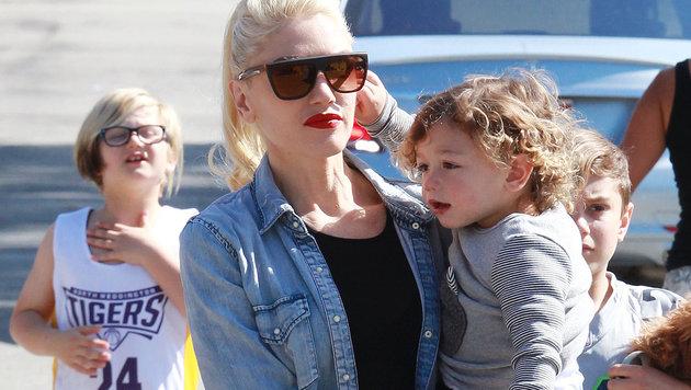 Gwen Stefani mit ihren Kindern (Bild: Viennareport)