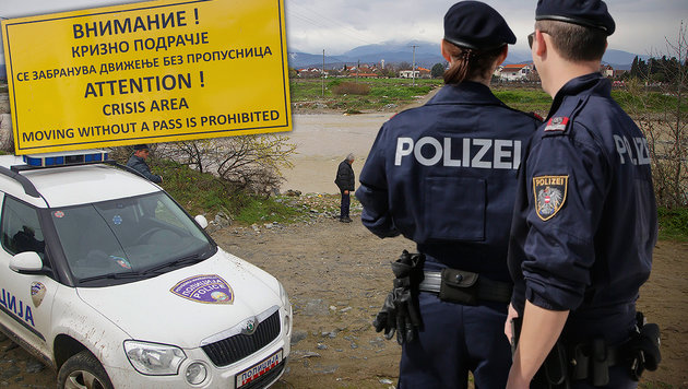 Idomeni: Unsere Polizisten am Todesfluss (Bild: Klemens Groh)