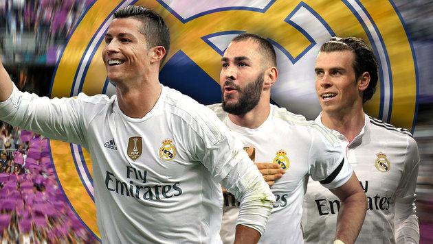 Ronaldo, Benzema, Bale: Real-Sturm wirbelt wieder! (Bild: GEPA)