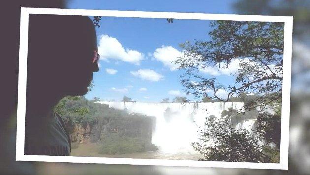 Max Rogers bewundert die Wasserfälle von Iguazú in Argentinien. (Bild: Max Rogers)