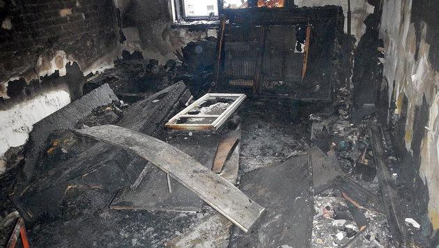 Die Wohnung wurde vom Feuer komplett zerstört. (Bild: MA 68 Lichtbildstelle)