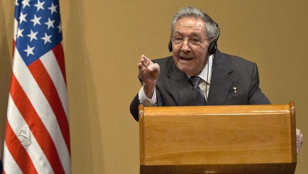 """""""Es gibt keine politischen Häftlinge"""": Präsident Raul Castro (Bild: ASSOCIATED PRESS)"""