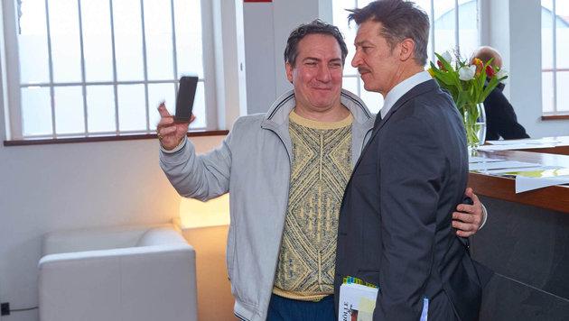 Selfie am Set: Palfrader & Moretti (Bild: Starpix/ Alexander TUMA)