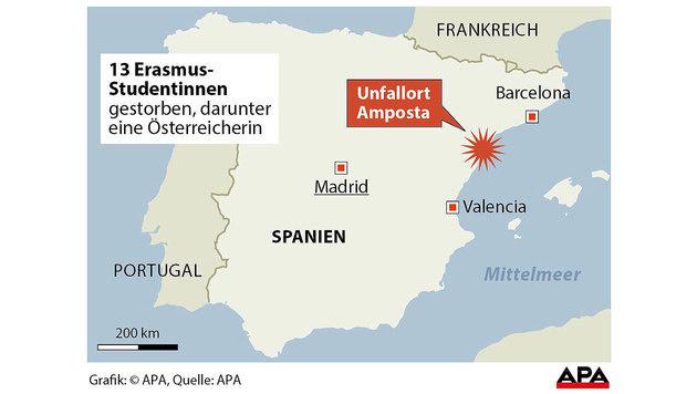 Busunglück in Spanien: Auch Österreicherin starb (Bild: APA)