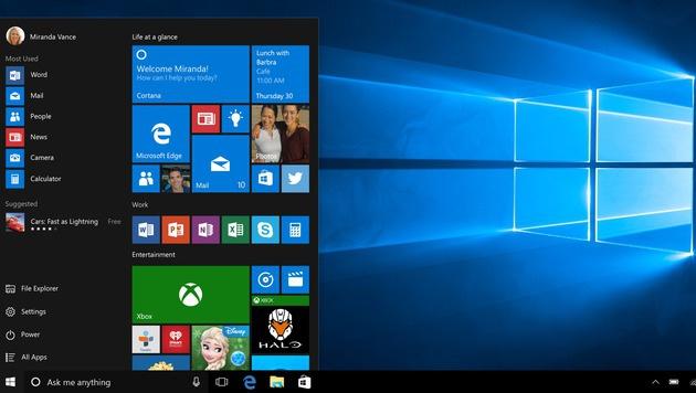 So sieht Windows 10 aus. (Bild: Microsoft)