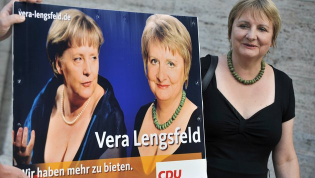 Ein Bild aus besseren Tagen: Lengsfeld im Wahlkampf für die Bundestagswahlen 2009. (Bild: AP)