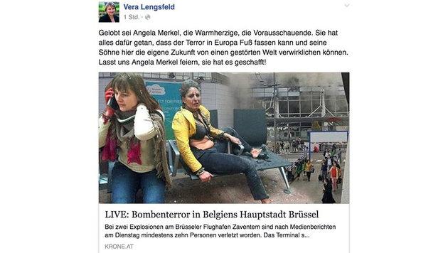 """CDU-Politikerin zynisch: """"Lasst uns Merkel feiern"""" (Bild: facebook.com)"""