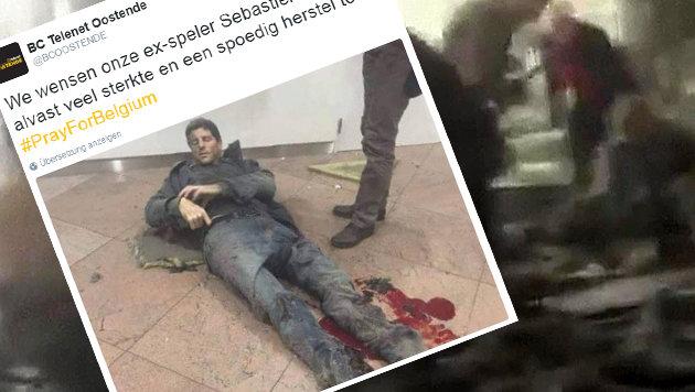 Ex-Basketball-Profi unter Terroropfern von Brüssel (Bild: APA/AFP/RTL TVI/STRINGER, twitter.com/BC Ostende (Screenshot))