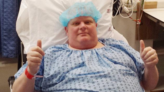 Rob Ford gab sich bis zuletzt optimistisch, auch hier vor seiner Operation im vergangenen Mai. (Bild: ASSOCIATED PRESS)