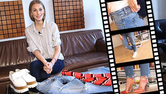 """""""Ripped Jeans"""" sind das Must-Have des Sommers (Bild: krone.tv)"""
