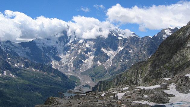 Die Ostseite des Monte Rosa (Bild: wikimedia.org/TobiasBender)