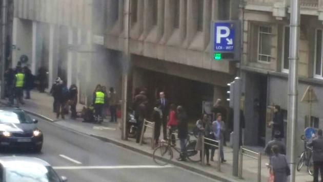 Blutbad in Brüssel: Rache-Terror im Herzen Europas (Bild: APA/AFP/Belga/SEPPE KNAPEN)