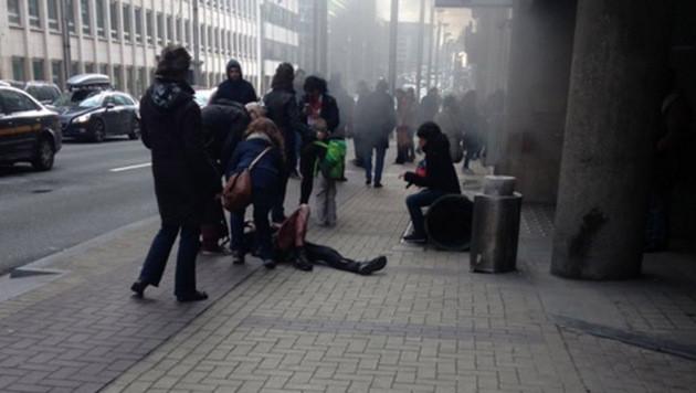 Blutbad in Brüssel: Rache-Terror im Herzen Europas (Bild: twitter.com/RT_com)