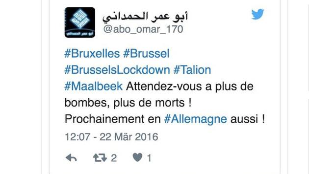 Der IS droht mit weiteren Terroranschl�gen. (Bild: twitter.com)