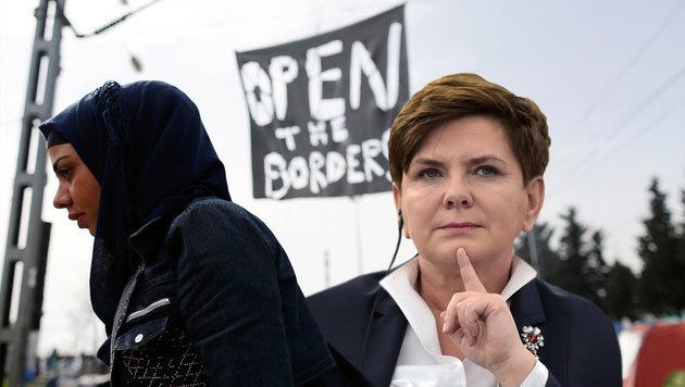 Beata Szydlo (Bild: AP, APA/AFP/PATRICK HERTZOG)