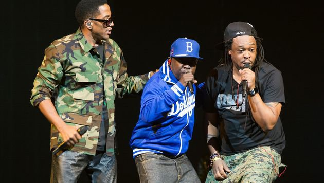 A Tribe Called Quest während eines Auftritts in New York 2013 (Bild: APA/AFP/Getty Images/Dave Kotinsky)