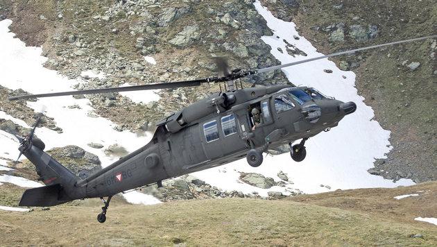 Nur noch vier Black Hawk des Heeres einsatzbereit (Bild: Kronen Zeitung)
