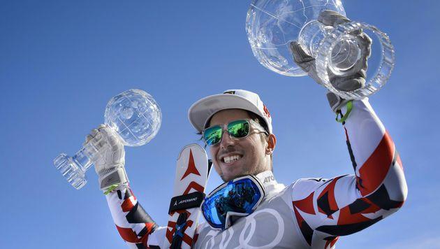 Am Wochenende hatte Hirscher beim Weltcup-Finale in St. Moritz noch zweimal Kristall abgestaubt. (Bild: APA/AFP/FABRICE COFFRINI)