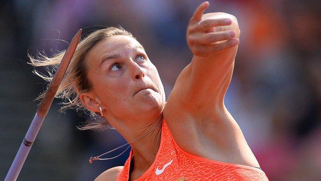 Speerwurf-Olympionikin Spotakova brach sich Fuß (Bild: AFP)