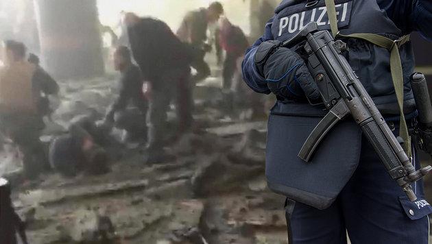 """Terrorgefahr in Deutschland ist """"sehr, sehr hoch"""" (Bild: Associated Press, APA/dpa/Monika Skolimowska)"""