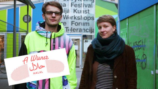 Projektleiter Georg Sampl und Zuzana Ernst im Einsatz für den Halal-Würstelstand (Bild: Halal-Würstelstand)