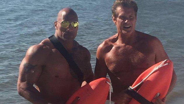 """Dwayne """"The Rock"""" Johnson hat den """"Hoff"""" für den neuen """"Baywatch""""-Film zurück vor die Kamera geholt. (Bild: Viennareport)"""