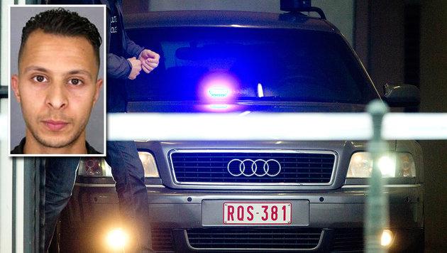 In diesem Polizeiauto soll Abdeslam zur Anhörung vor Gericht gefahren worden sein. (Bild: APA/AFP/POLICE NATIONALE/DSK, ASSOCIATED PRESS)