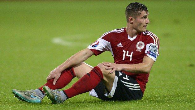 Albanien-Spieler Taulant Xhaka (Bild: APA/AFP/NIKOLAY DOYCHINOV)