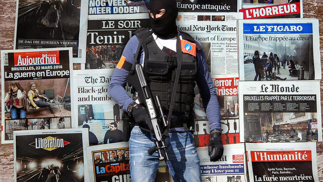 Geheimdienste rechnen 2016 mit Horrorszenario (Bild: ASSOCIATED PRESS, APA/AFP/PHILIPPE HUGUEN)