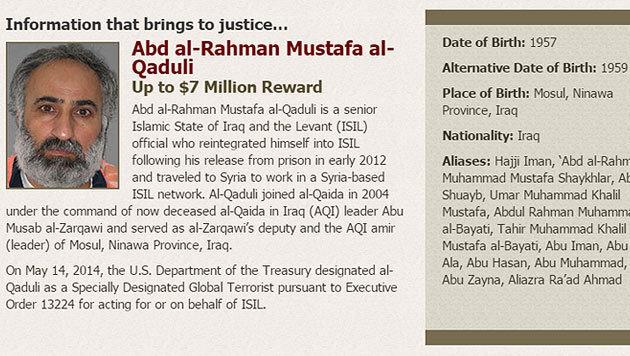 """US-Streitkräfte töteten """"Finanzminister"""" des IS (Bild: www.rewardsforjustice.net)"""
