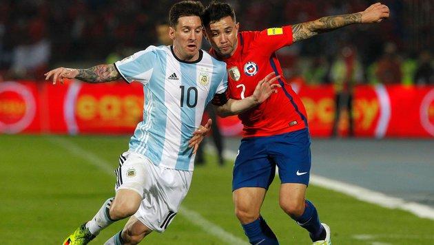 Argentinien holt in WM-Quali zweiten Sieg (Bild: APA/AFP/CLAUDIO REYES)