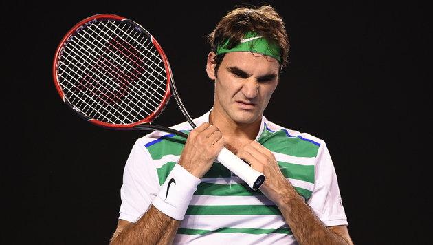 Federer: Knieverletzung beim Baden der Töchter (Bild: GEPA)