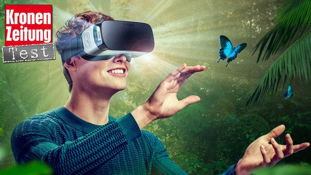 Gear VR: Das taugt Samsungs Virtual-Reality-Brille (Bild: Samsung, krone.at-Grafik)