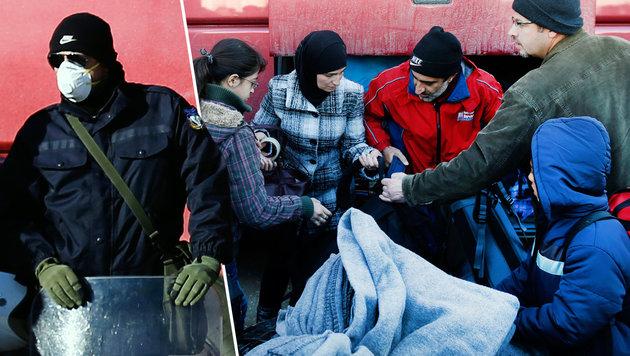 Räumung von Chaos-Lager Idomeni hat begonnen (Bild: AP)