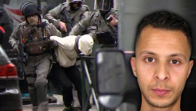 Salah Abdeslam bei seiner Verhaftung (Bild: AP, APA/AFP/POLICE NATIONALE/DSK)